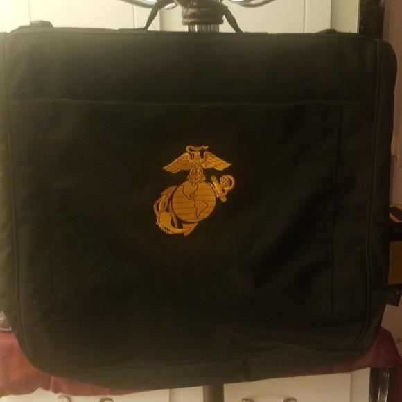 USMC Marines Semper Fi Garment Bag Black Embroider
